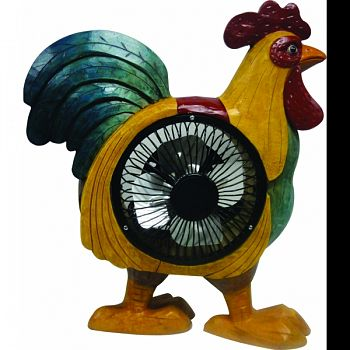 Rooster Statuary With Fan MULTICOLORED 10X4X10 INCH