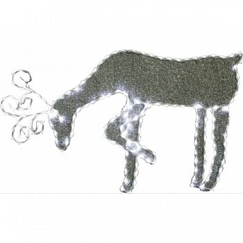 Grazing Reindeer W/ 144pcs Led Lights 8-functions WHITE 35X1X21 INCH (Case of 6)