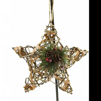 Rattan & Berry Christmas 3d Star GOLD 12X6X12 INCH (Case of 4)