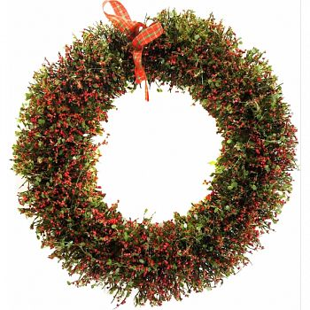 Rattan Christmas Wreath With 20 Led Lights GOLD 17X5X17 INCH (Case of 4)
