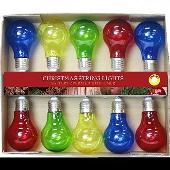 Light String W/10 Edison Bulbs- Multi Color MULTICOLORED 89X2X2 INCH (Case of 4)