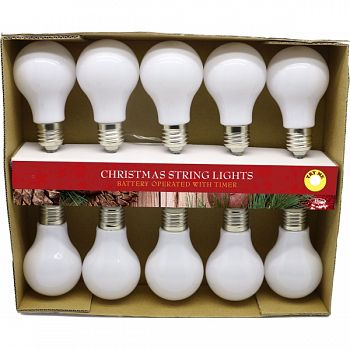 Light String W/10 Edison Bulbs WHITE 89X2X2 INCH (Case of 4)