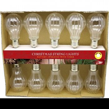 Light String W/10textured Edison Led Bulb CLEAR 89X2X2 INCH (Case of 4)