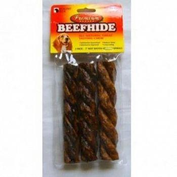Premium Beefhide Crunchy Spirals - 5 in./3 pk.