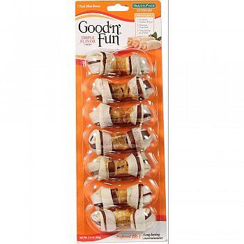 Healthy Hide Good N Fun Triple Flavor Mini Bones  7 PACK