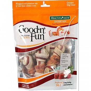 Healthy Hide Good N Fun Triple Flavor Bones  6 PACK/SMALL