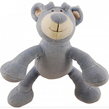 Brooklyn Design Wally Bear Plush Squeaker Dog Toy