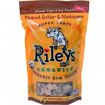 Riley S Organics Organic Dog Treats PB/MOLASSAS 10 OZ/SMALL