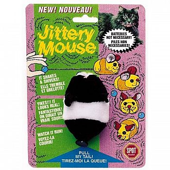 Plush Jittery Mouse Cat Toy - 3 in.