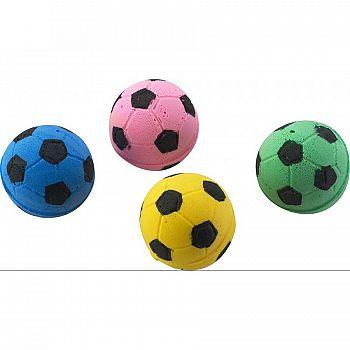 Sponge Soccer Balls 4 Pack for Cats