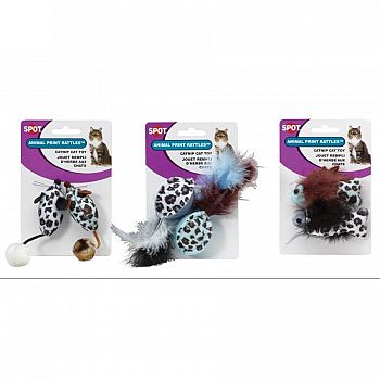 Animal Print Rattle with Catnip