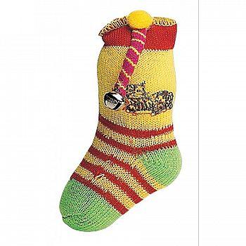 Neon Catnip Sock Cat Toy