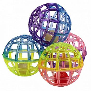 Lattice Ball Cat Toy - 4 pack