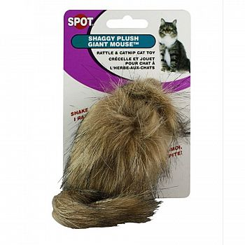 Spot Nips Long Haired Rattle Mouse Cat Toy
