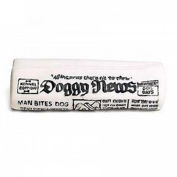 Vinyl Newspaper Dog Toy 6.5 inches