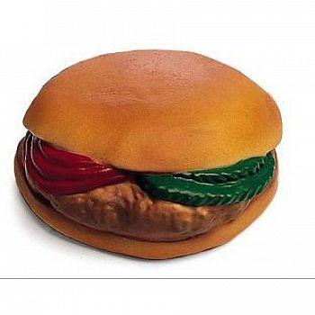 Vinyl Hamburger- Dog Toy 4 in.