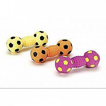 Stuffed Latex Soccer Ball Dumbell Dog Toy