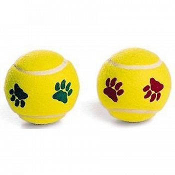 Pawprint Dog Tennis Balls - 2 pack