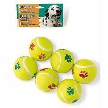 Tennis Ball Value Pack Dog Toy - 6 pk.