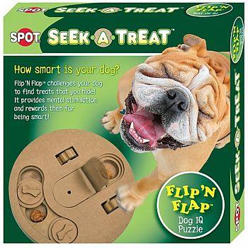 Seek-A-Treat Flip N Flap - Dog IQ Puzzle - 10in.