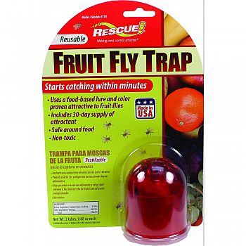 Rescue Resuable Fruit Fly Trap  30 DAY SUPPLY