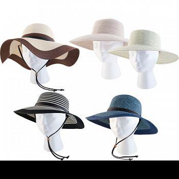 Braided Hat Assortment ASSORTED 24 PIECE