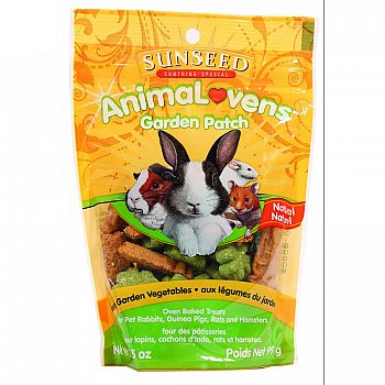 Animalovens Garden Patch Treats for Small Pets 3.5 oz.