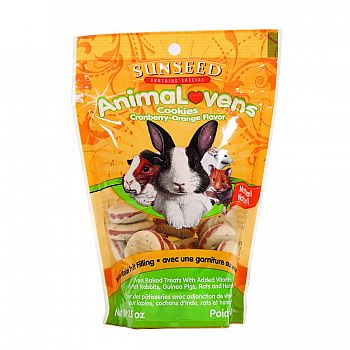Animalovens Cookies for Small Pets - Cranberry Orange 3.5 oz.