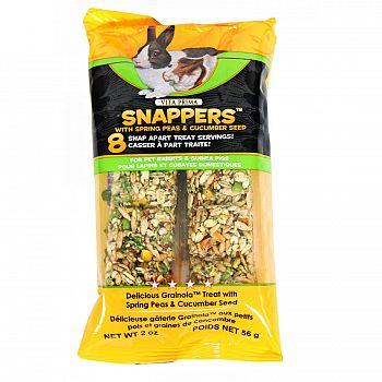 Vita Prima Snaps For Pet Rabbits & Guinea Pigs - 2 oz Peas and Cucumber