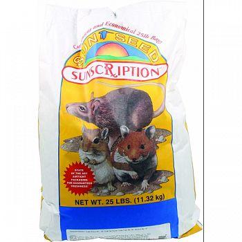 Sun Basics Hamster & Gerbil Food  25 POUND