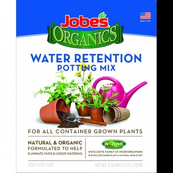 Jobes Organics Potting Mix Water Retaining  8 QUART