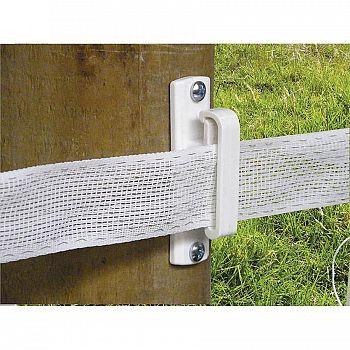 Tape Wood Post Insulator - White