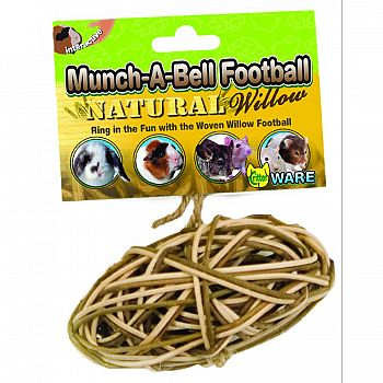 Munch-A-Bell Football Small Animal Toy