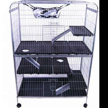 Lrs Deluxe Ferret Home GREY 42X20.75X59.5