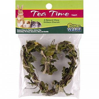 Tea Time Heart Natural Chew For Small Animals