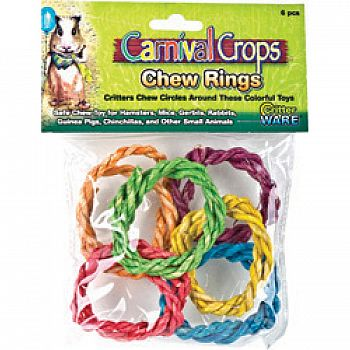 Colorful Chew Rings Small Animal Toy