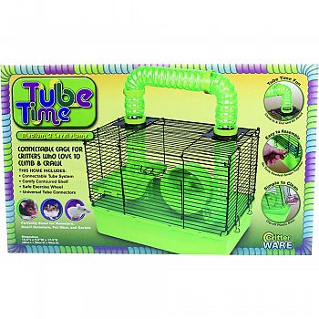 Tube Time Cage GREEN/BLACK 15 INCH
