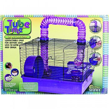 Tube Time Cage PURPLE/BLACK 16 INCH