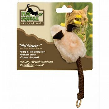 Play-N-Squeak Wild Flingdom Mouse Cat Toy