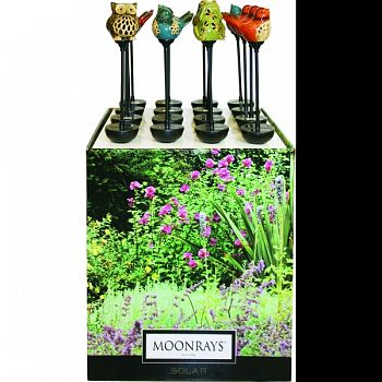 Moonrays Ceramic Led Stake Lights Floor Display ASSORTED 16 PC