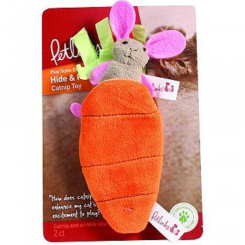 Petlinks Hide And Peek Catnip Toy BUNNY & CARROT