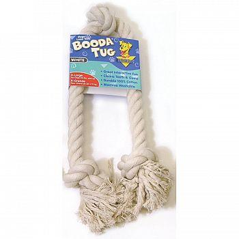 Booda Tug White Rope Dog Toy