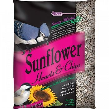 Songblend Sunflower Hearts and Chips 3 lbs (Case of 6)