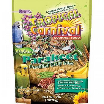 Tropical Carnival Natural Parakeet - 2 lbs
