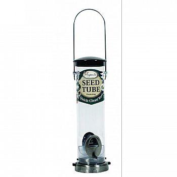 Seed Tube Bird Feeder - Silver / Small