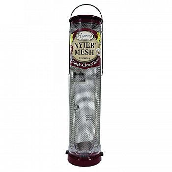 Quick Clean Nyjer Mesh Tube Bird Feeder