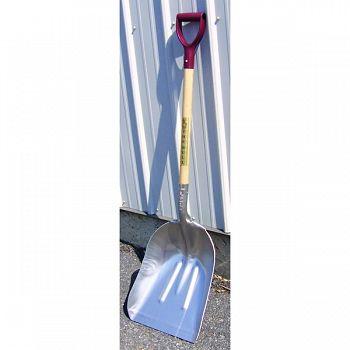 Bull Scoop Heavy Duty Shovel W/ D Handle Grip SILVER 14 X 30 INCH