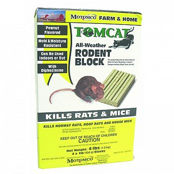 Tomcat All-weather Rodent Block - 1 lb.