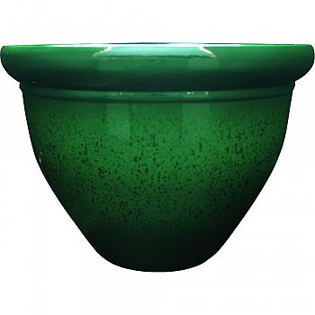 Pizzazz Pop Resin Pottery Planter ANALOG GREEN 9 INCH (Case of 12)
