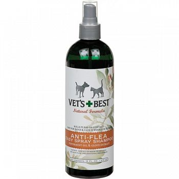 Vets Best Natural Anti-flea Easy Spray Shampoo - 16 oz.